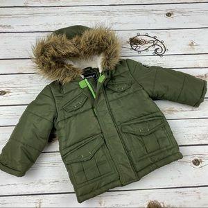 Rothschild Jacket Coat Boys Faux Fur Hooded Winter